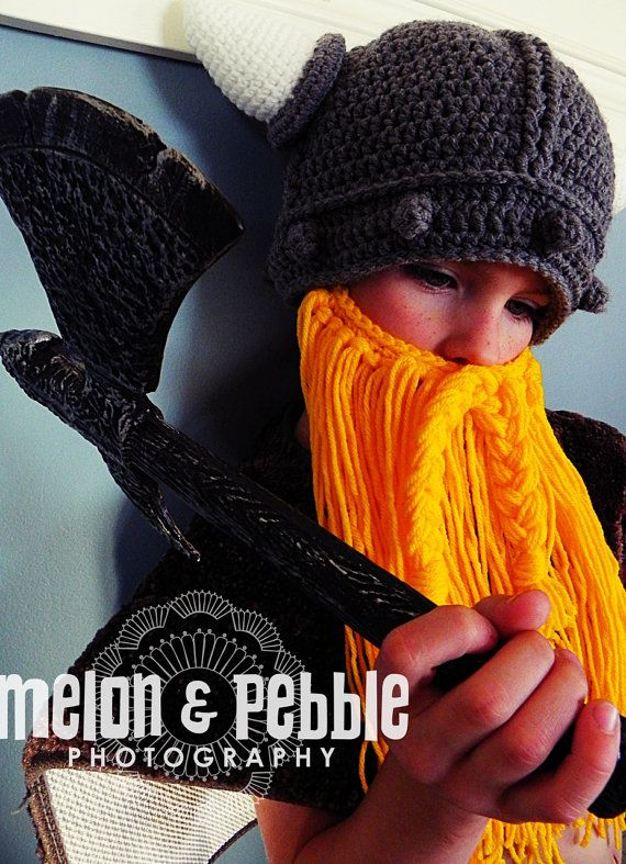 Helga and Olaf Beard and Braids Crochet Pattern PDF   Beards_Hats ...