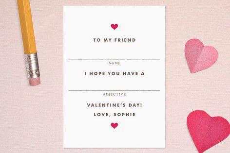 sweet valentines | via minted by kelli hall