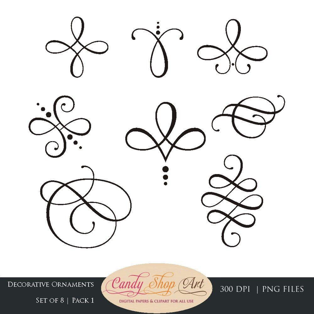 Instant Download kalligrafie ornamenten door CandyShopDigitalArt