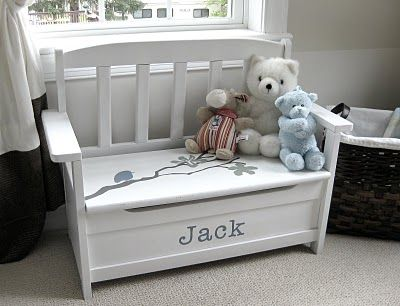personalized bench/toy chest | Playroom