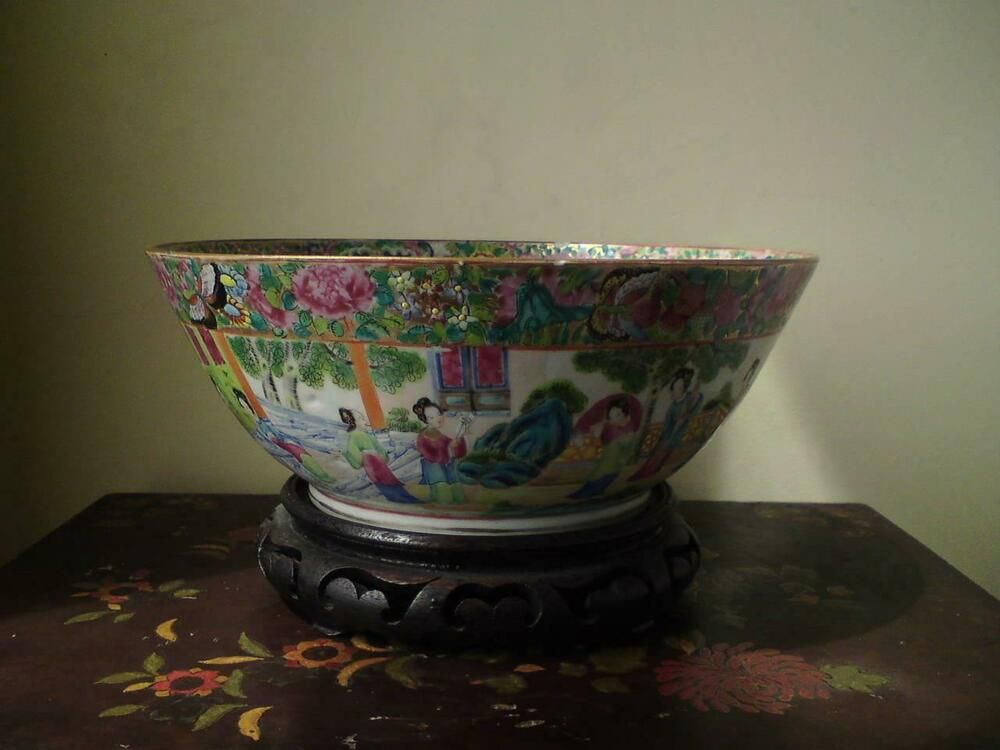 Antique 19th century chinese canton famille rose porcelain