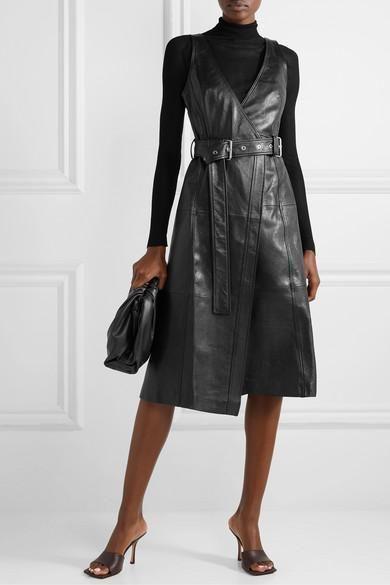 Calvin Klein Womens Long Sleeve Belted Shirt Dress