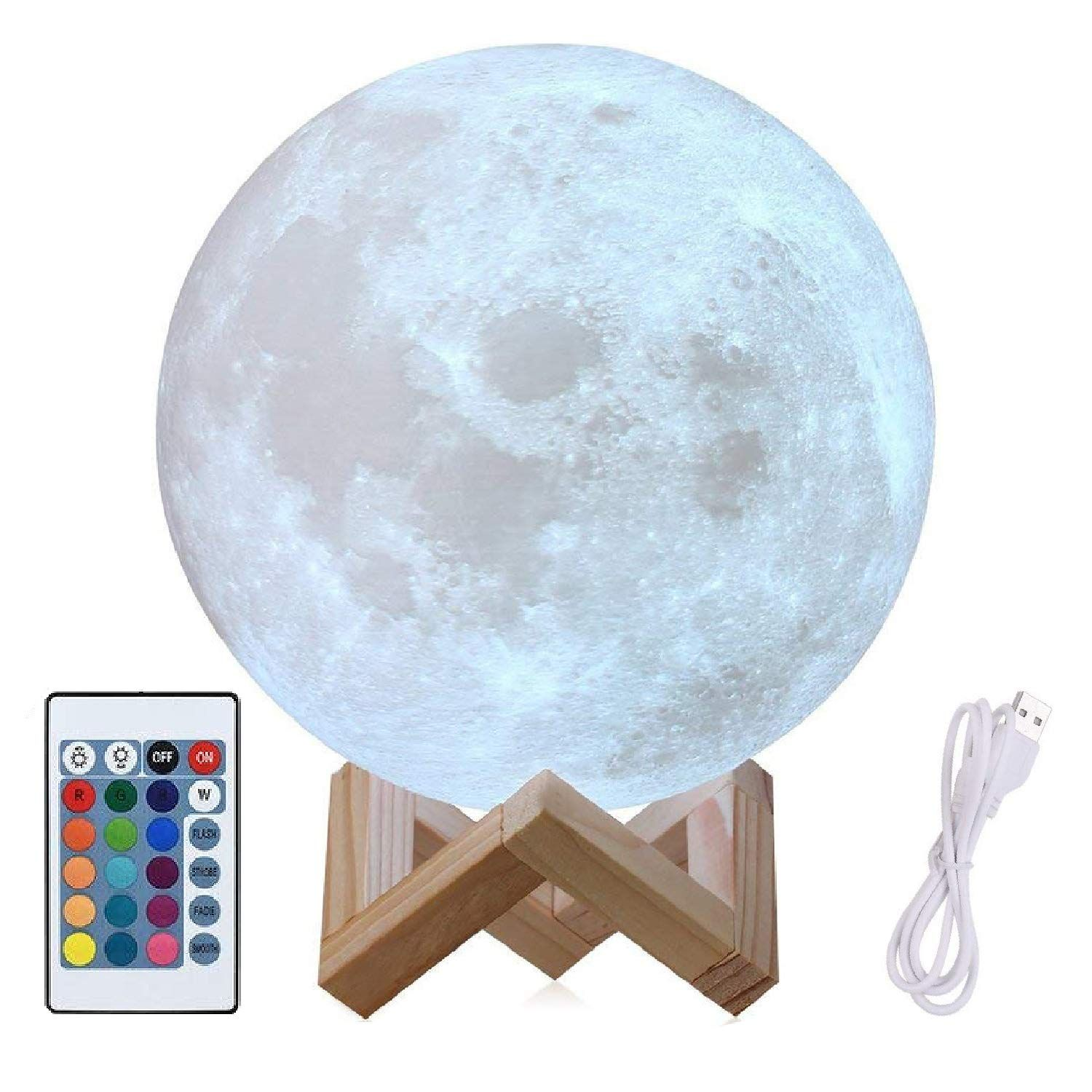 8 Moon Lamp Large Genuine Moon Light Lamps I ˆ6 113d Printed Moon Light With Stand The 3d Moon Lamp With Led 16 Color Moon Light Lamp Lamp Light Trending Decor