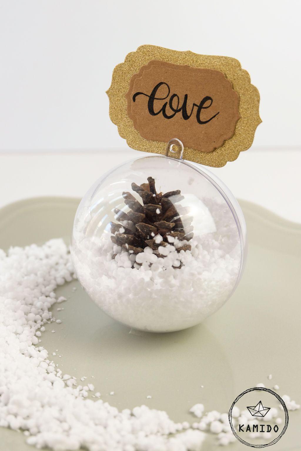 Segnaposto Matrimonio Invernale.Segnaposto Invernale Diy Palla Di Neve Segnaposto Palla Di
