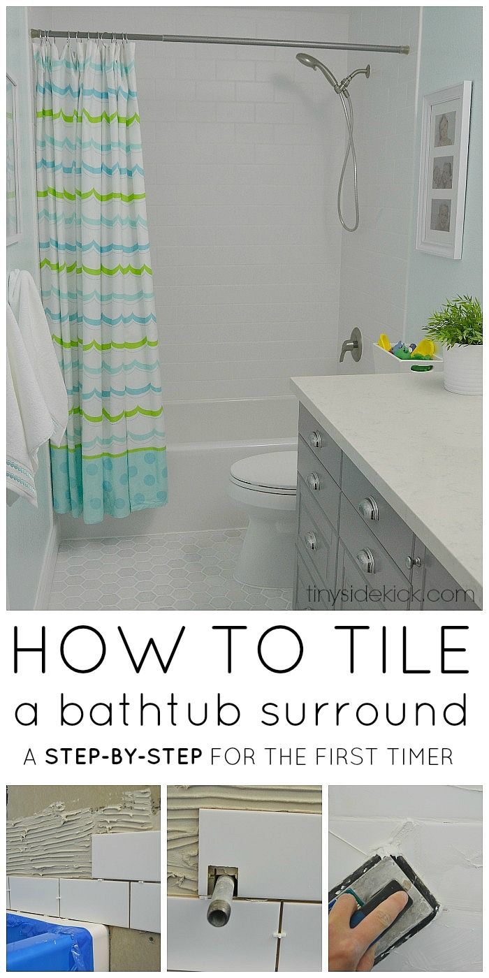 How to Tile a Tub Surround | Tub surround, Tubs and Bathtub shower