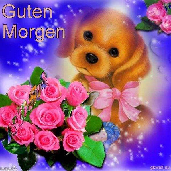Photo of Guten Morgen Hund Blumen