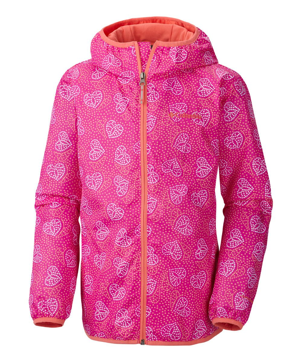 Look at this Groovy Pink Heart Pixel Grabber II Wind Jacket - Infant