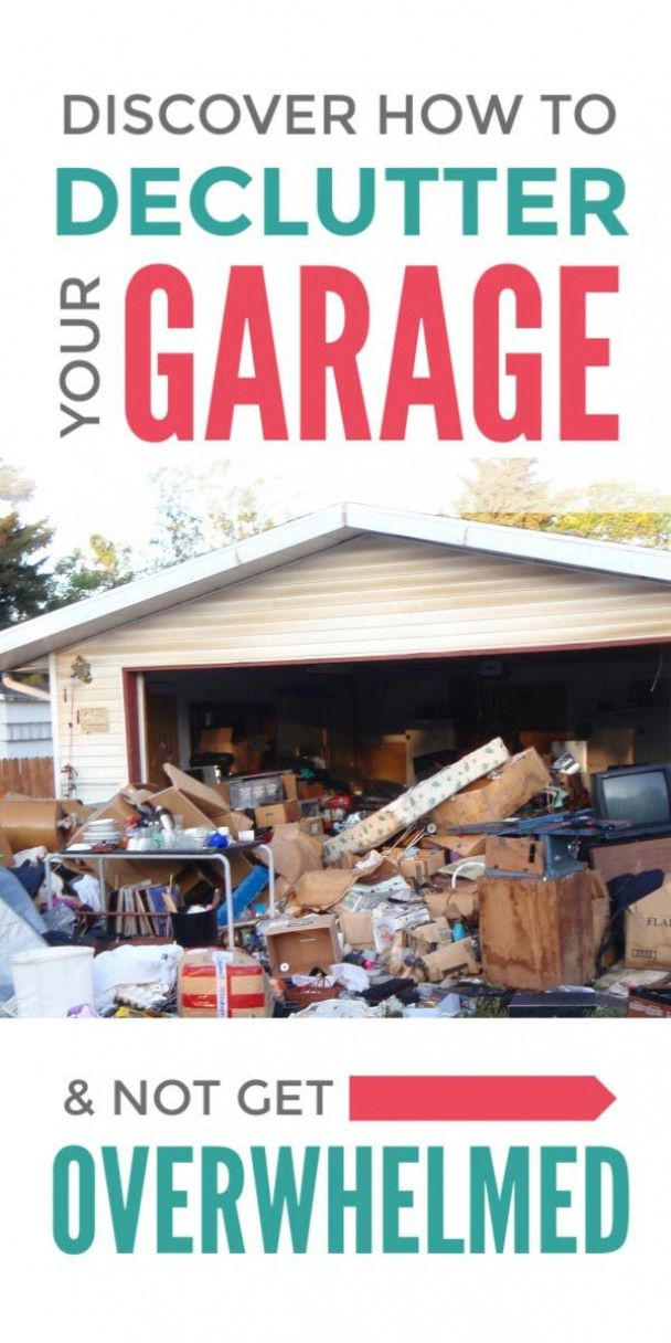Declutter your garage with these simple hacks that will conquer your clutter and organize your garage without you getting overwhelmed