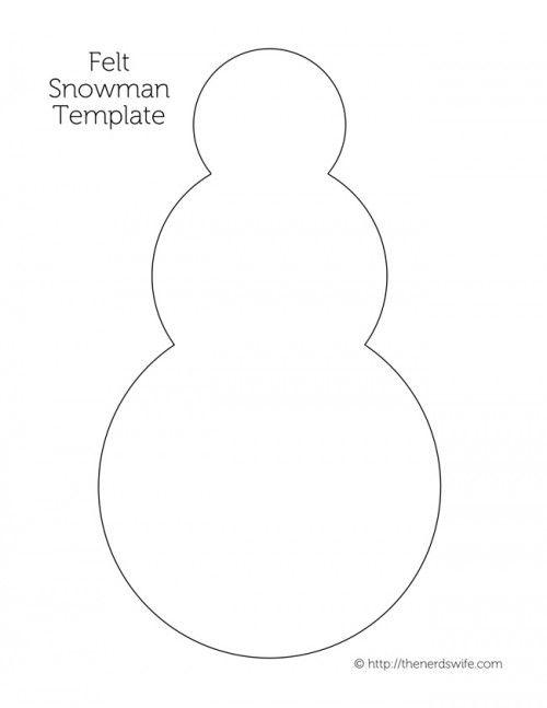 Felt-Snowman-Template-500x647jpg (500×647) felt Pinterest - snowman template