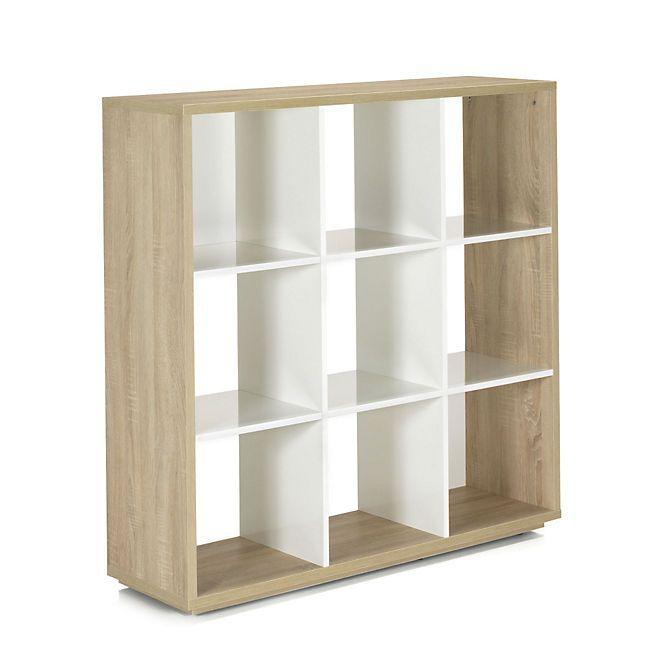 Checker Bibliotheque 9 Cases Design Scandinave Mobilier De Salon