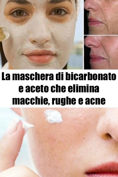 maschera viso yogurt e bicarbonato