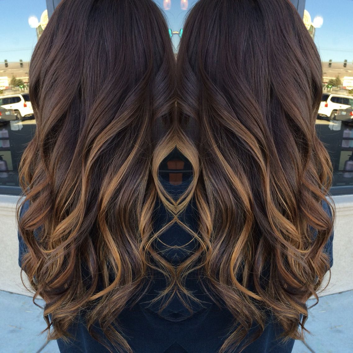 Dark Brown With Balyage Highlights Hair Ive Done Pinterest