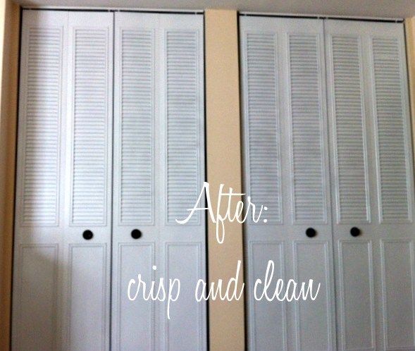 Spray Paint Closet Bifold Doors