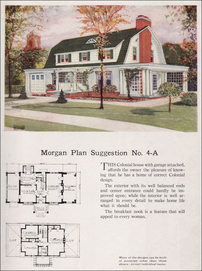 1923 Dutch Colonial Revival Morgan Sash Door Building With Assurance No 4 A Gambrel Roof Gambrel Style Dutch Colonial Dutch Colonial Homes