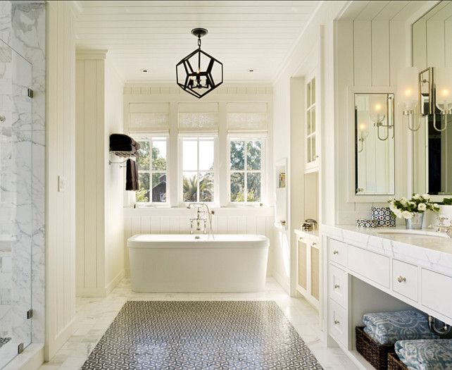 The Enchanted Home Really Nice Bathroom, I Like The Free Standing Tub, The  Cabinets, Lots Of Storage, I Like The Mix Of Open And Closed Storage, ...