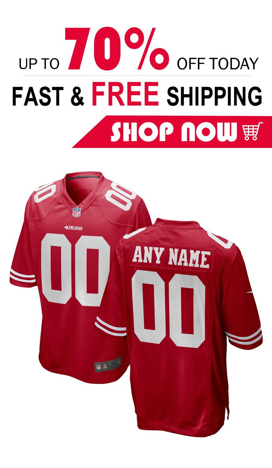 new product bdfe6 1c26c mens San Francisco 49ers custom football Game jersey ...