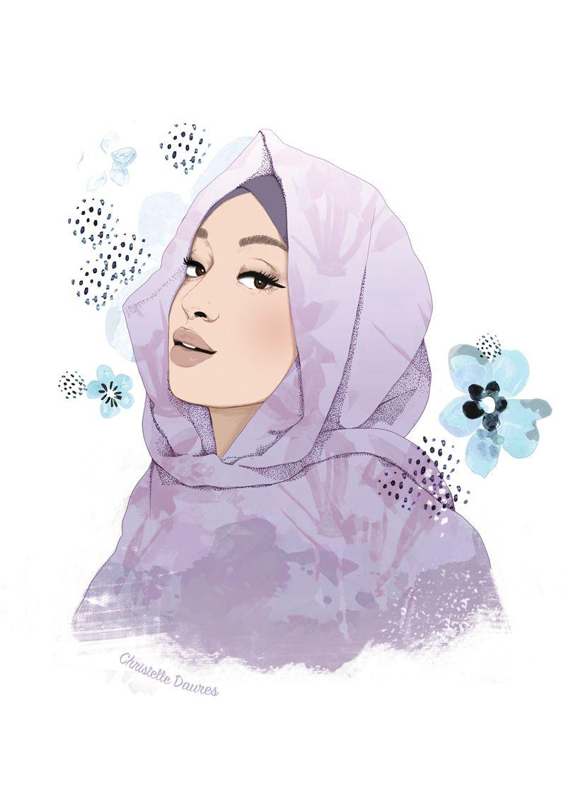 Illustration Fille Voilee Hejab Is My Crown Illustration