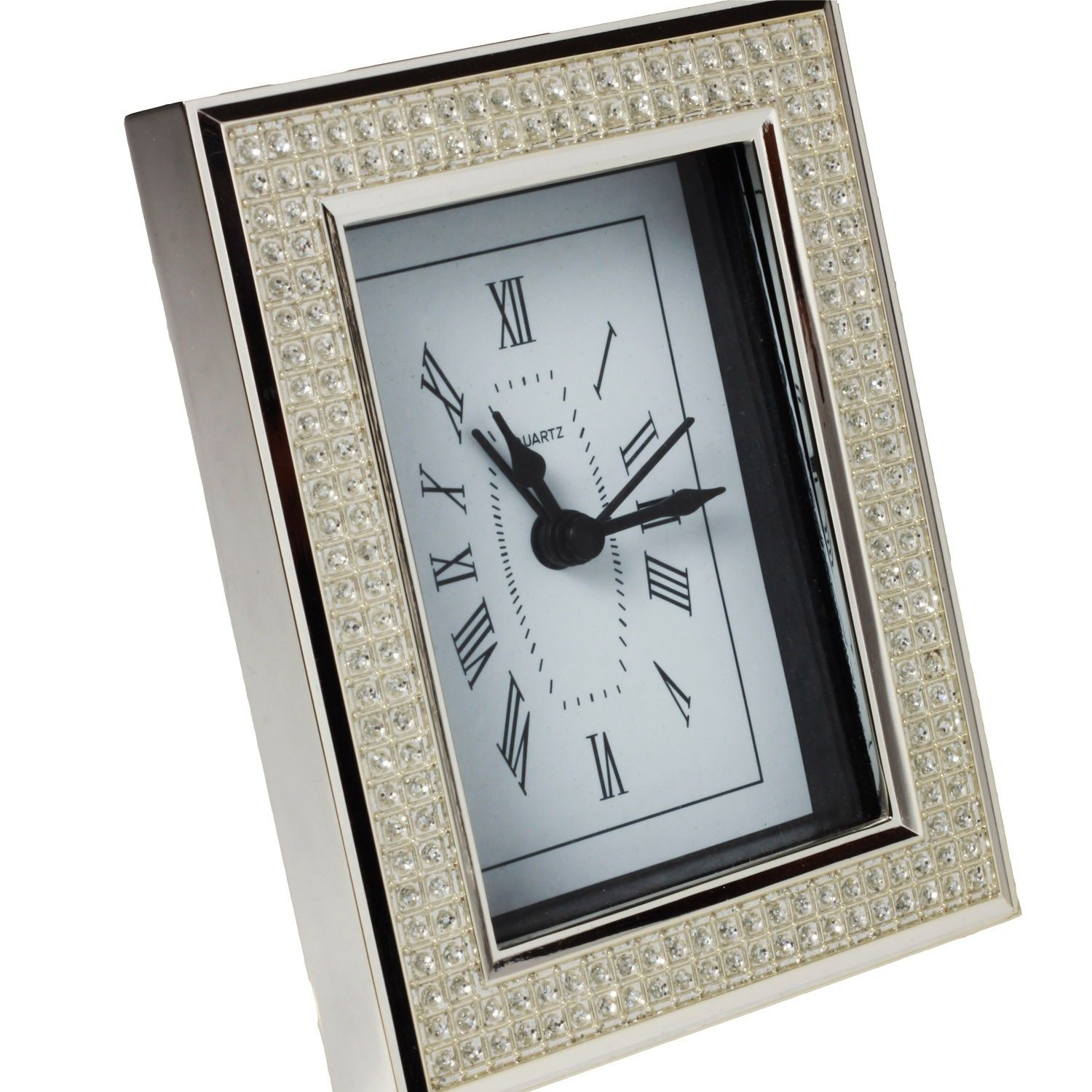 Silver Plated Alarm Clock - A practical alarm clock that is silver coated so you can wake up in style! Perfect gift for mom, dad or even the boss.