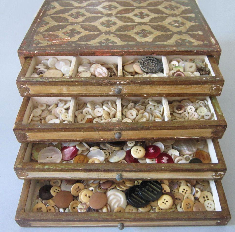 Ma Petite Fabrique De Meubles buttonartmuseum - antique florentine 4 drawer chest