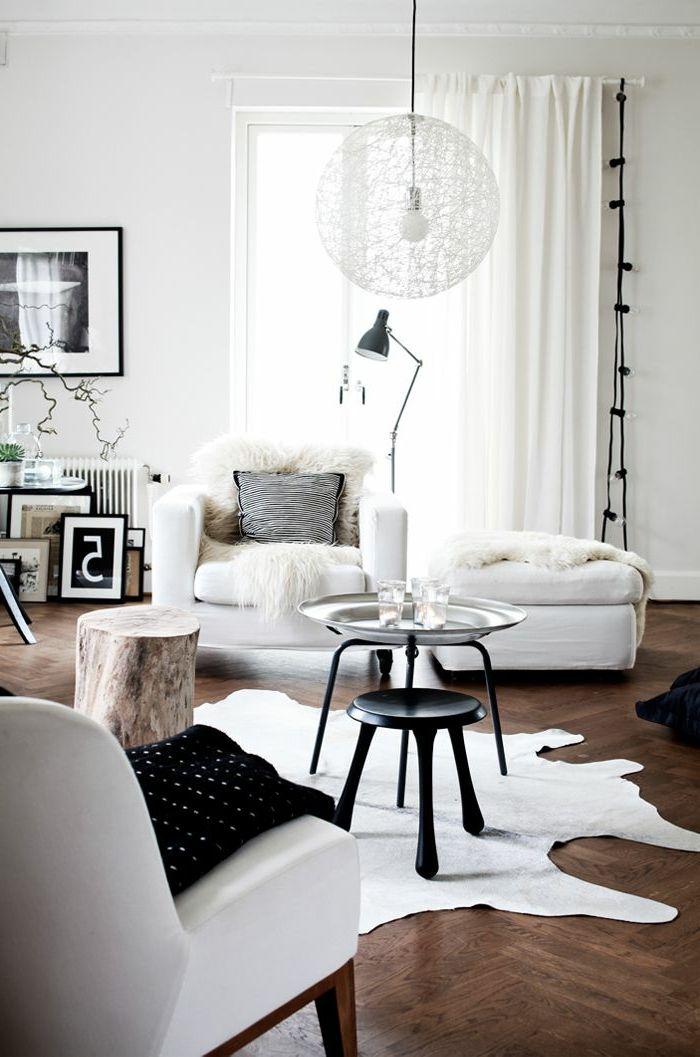 Merveilleux Joli Lustre Blanc Pour Le Salon Moderne, Grande Lampe De Salon Blanche