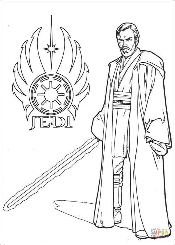 Star Wars Obi Wan Kenobi | Super Coloring | LineArt: Star Wars ...