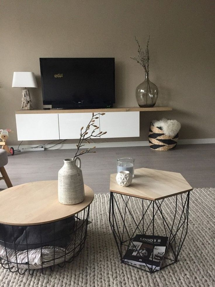 Meuble tv et planche bois | Beautiful Homes | #interiordesign #interior #goals #home #goals #skandinavischwohnen