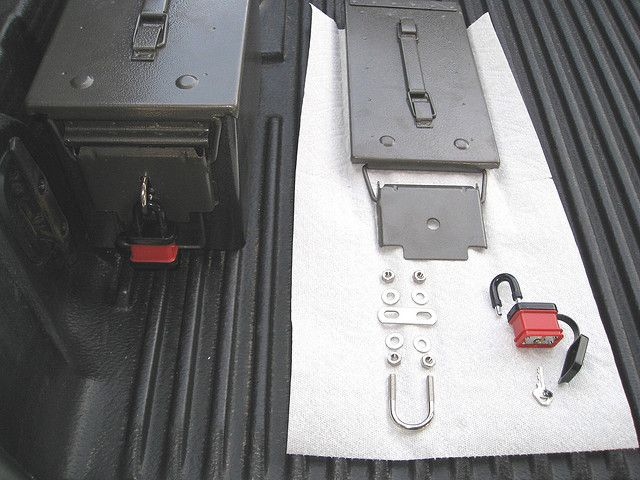 Ammo Can Truck Bed Storage With Lock Good Ideas Ammo