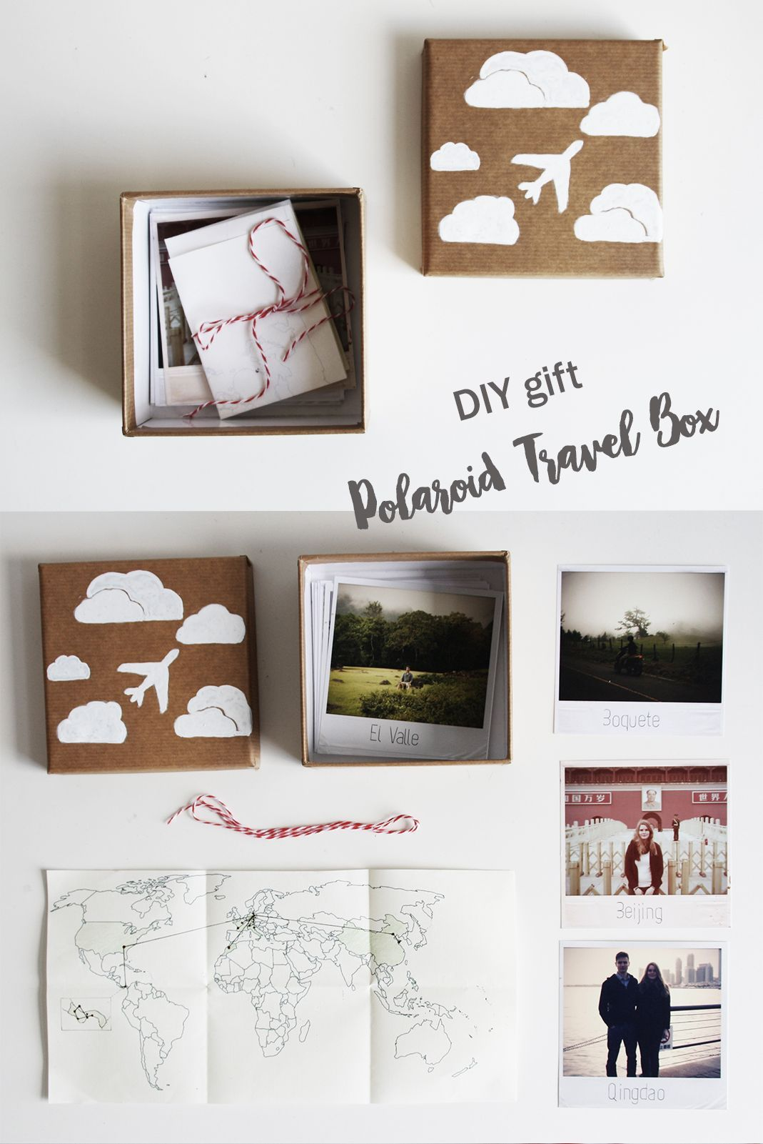 Diy Geschenk Polaroid Reise Kiste Do It Yourself Gift Idea
