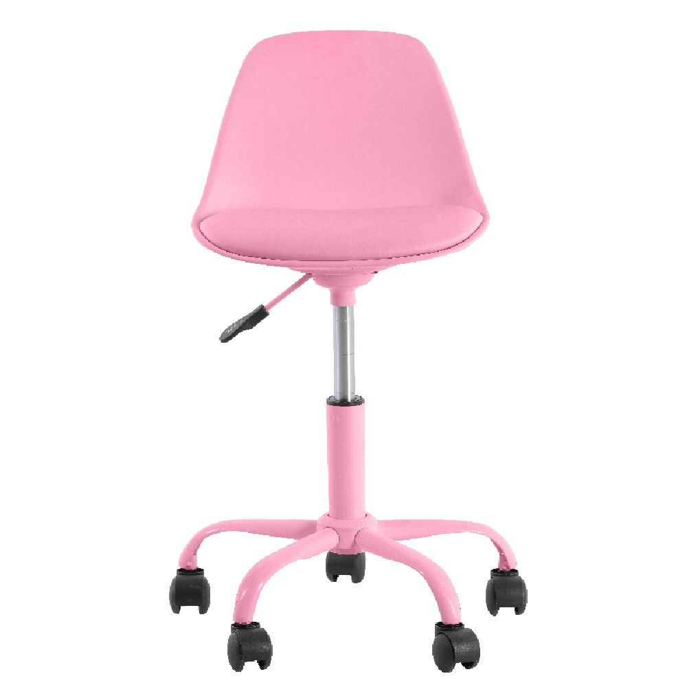 Chaise De Bureau A Roulettes Rose
