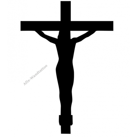 af216987365b36 Wandtattoo Sticker Jesus Kreuz Inri