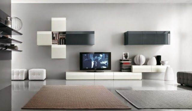 modern tv wall units wall mounted for living room decoration - Designer Wall Units For Living Room