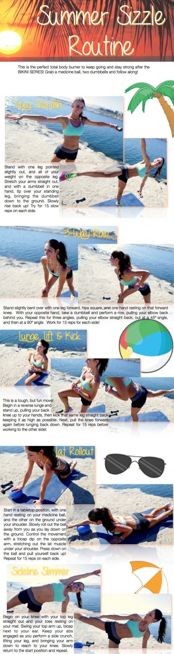 New summer sizzle workout mamaus board pinterest body
