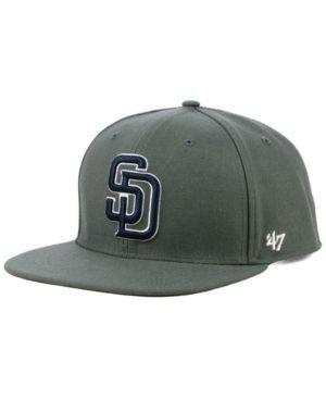497495bb06 47 Brand San Diego Padres Autumn Snapback Cap - Gray Adjustable ...
