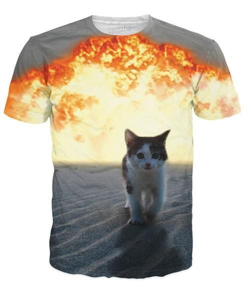 807463ff6 cat tee shirts on sale at reasonable prices, buy Solar Kitten T-Shirt Cat  Vomiting A Waterfall Onto Earth Vibrant Cat Tee Shirt Galaxy Nebula Space T  Shirt ...
