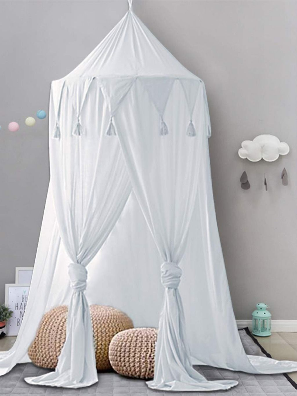 Bed Canopy Lace Mosquito Net For Kids White Bed Tent Rainbow Bedding Kid Beds