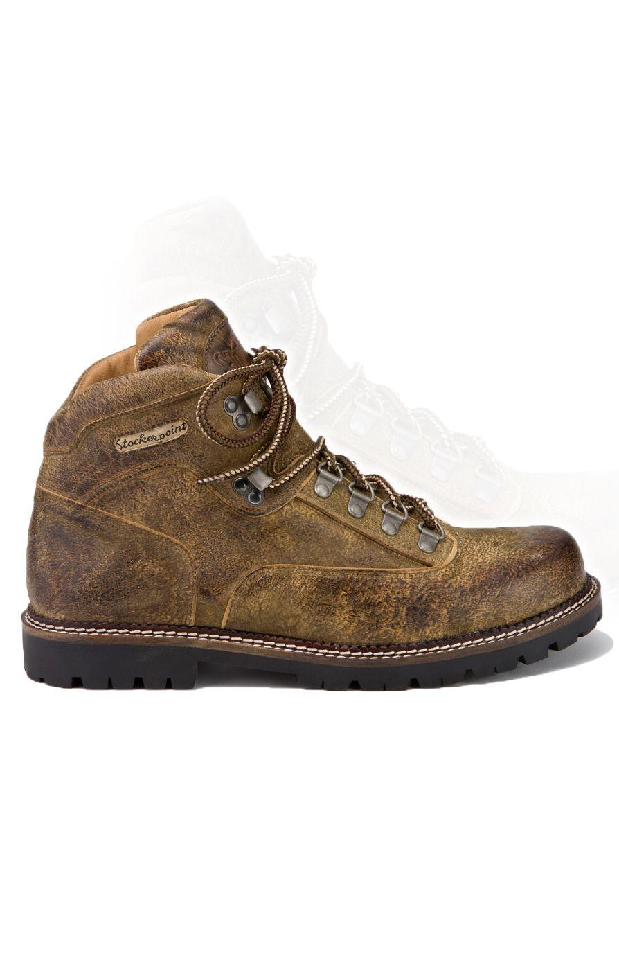 Trachten Schuhe als Herren High Sneaker in tabak braun | Wirkes