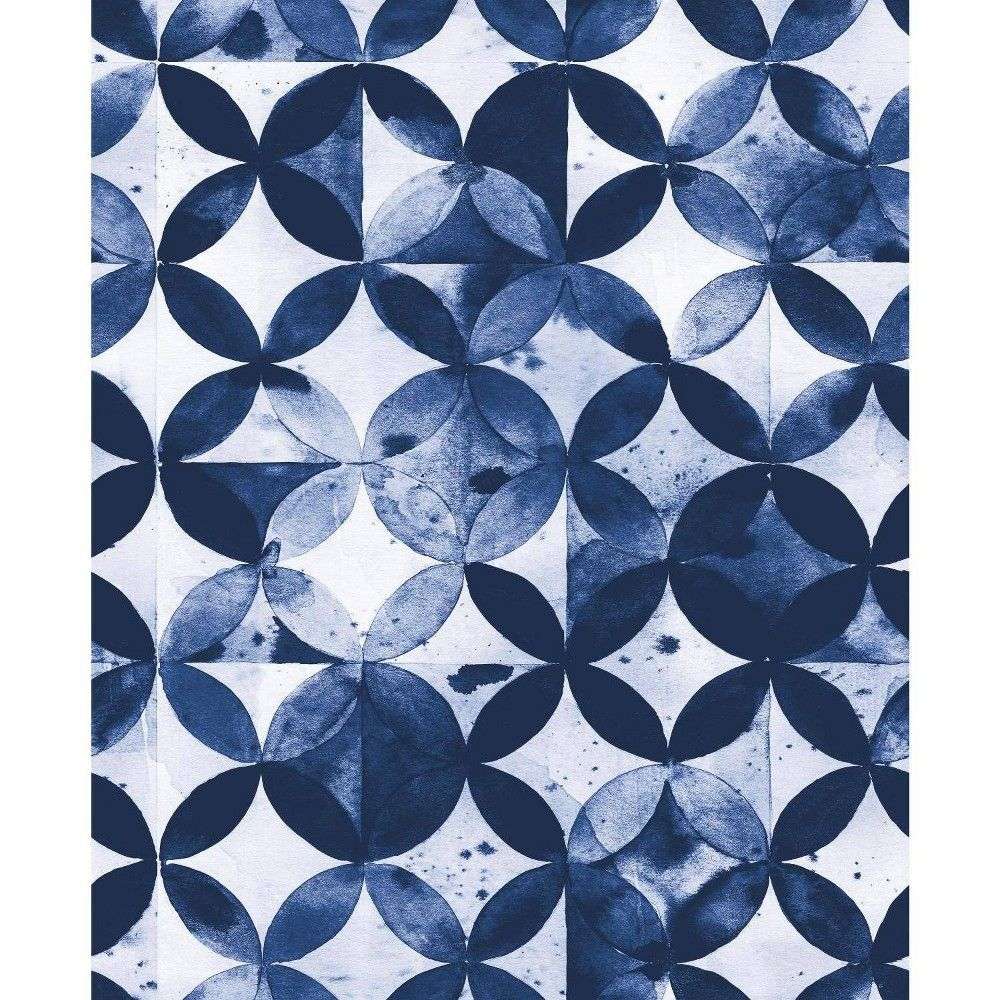 Roommates Paul Brent Moroccan Tile Peel And Stick Wallpaper Blue Peel And Stick Wallpaper Wallpaper Roll Moroccan Tile