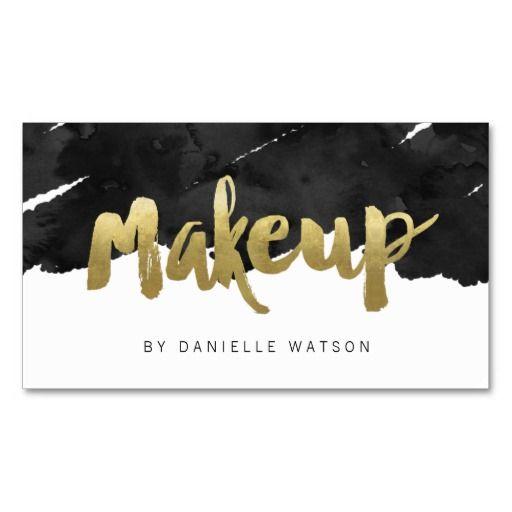 Edgy faux gold foil makeup artist business card makeup artist edgy faux gold foil makeup artist business card colourmoves