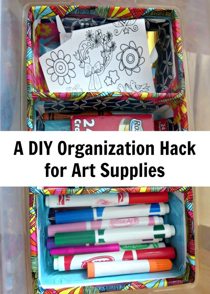 A Diy Hack Organizing Art Supplies Fun Art And Craft Ideas For