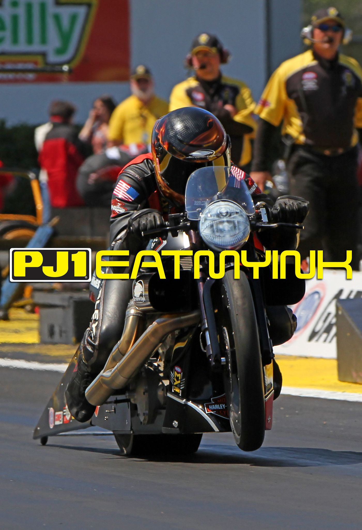 Andrew hines on the v rod at the 2017 nhra gatornationals on http