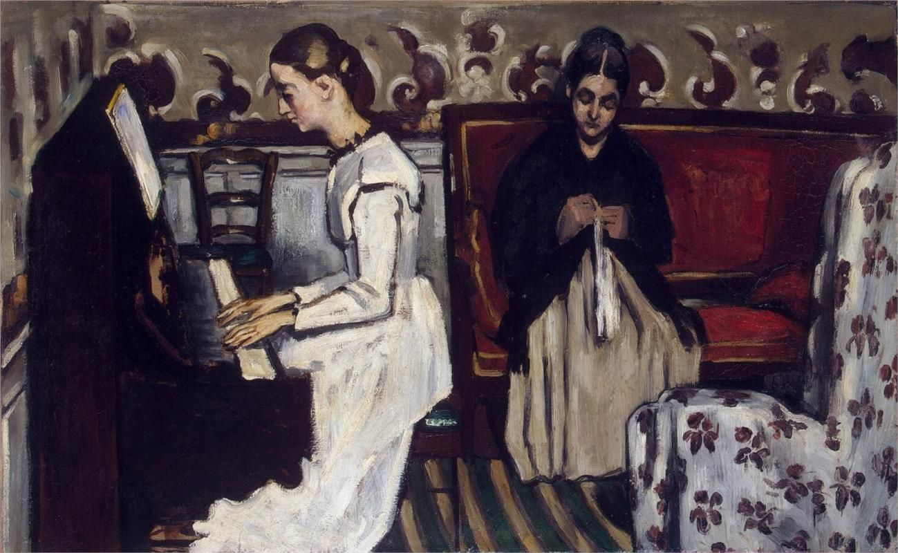 Girl at the Piano (Overture to Tannhauser), 1869 / Paul Cezanne