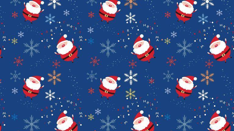 Hd Cute Christmas Background Cute Christmas Backgrounds Santa Claus Wallpaper Pattern Wallpaper