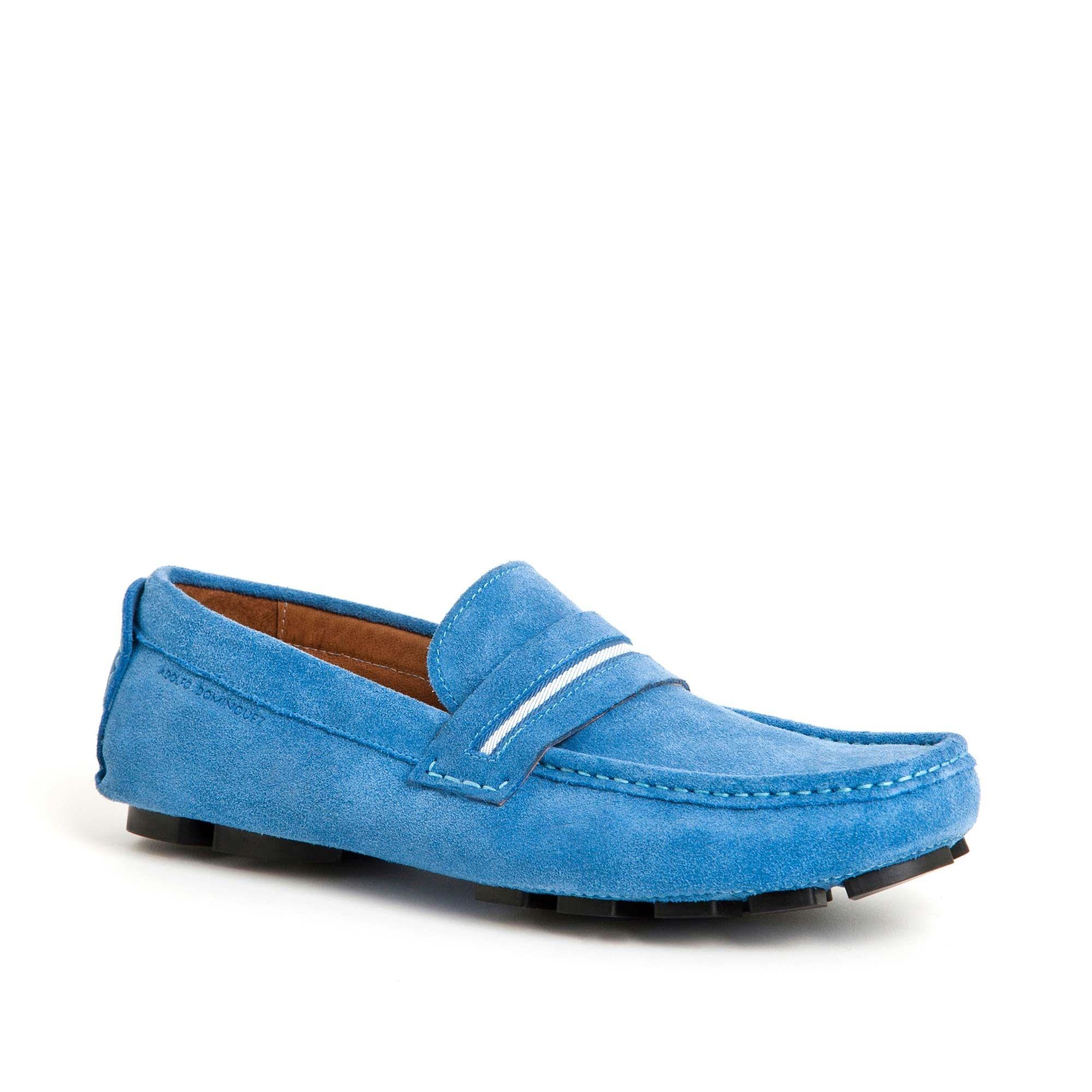 aac37b5f6d17e Zapato mocasín azul celeste - AD Hombre