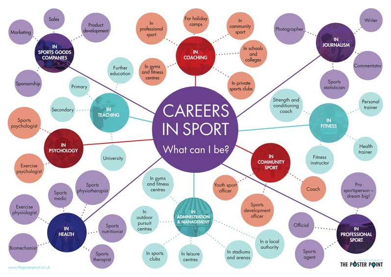 Careers in Sport Poster What can I be? Inspiring careers
