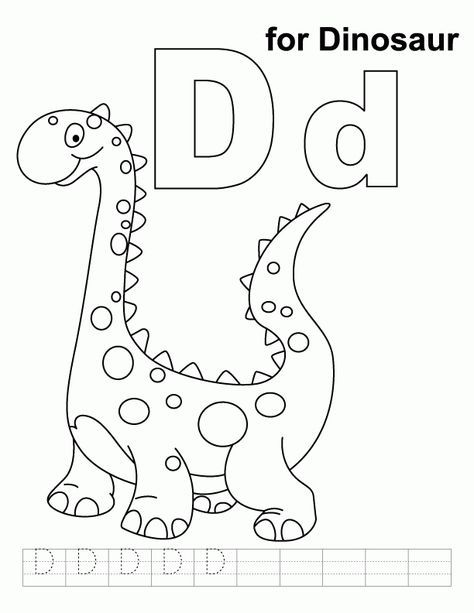 Coloring Page Dinosaur Coloring Pages Alphabet Coloring Pages