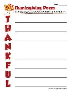thanksgiving writing activity poem