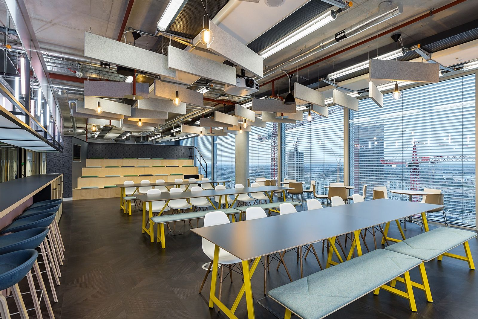 A Tour of UNICEF's New London Office Communal table