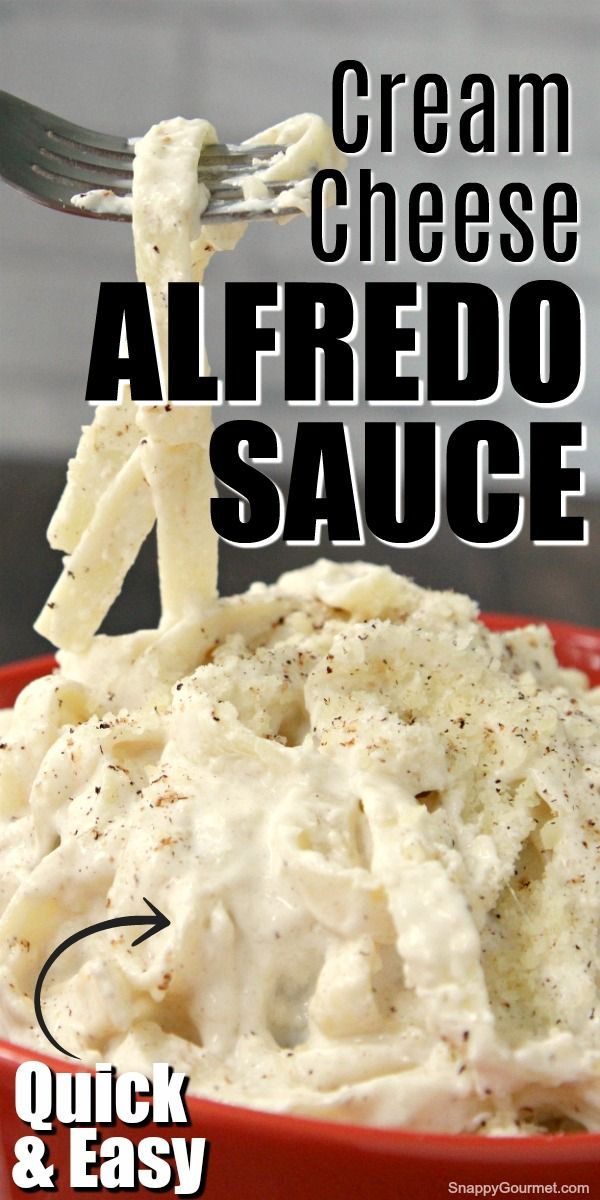 Alfredo Sauce with Cream Cheese