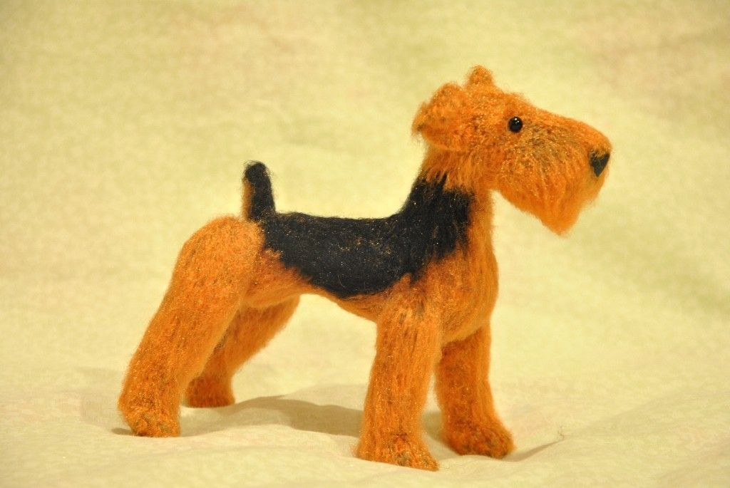 Project by Victoria Lukonina. Welsh Terrier dog crochet pattern by Tatiana Chirkova for LittleOwlsHut #Dog #welsh #terrier #DIY & Crafts #Chirkova #Kanareyka #LittleOwlsHut #amigurumi #toy #crochet_pattern