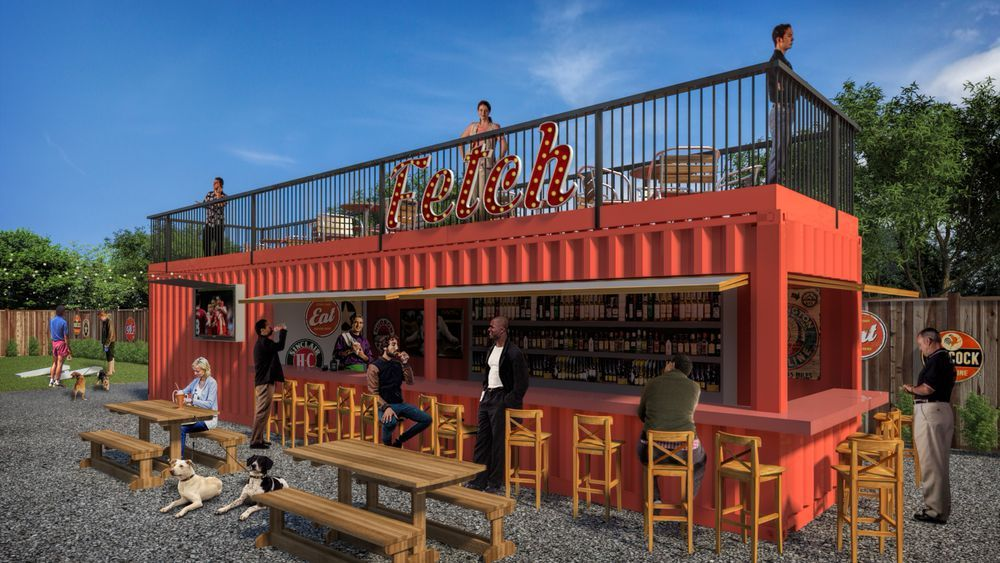 First look Fetch, a planned dogpark restaurant in Old
